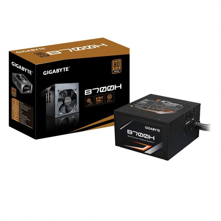 Gigabyte GP-B700H 700W ATX12V SLI CrossFire 80 PLUS BRONZE Certified Modular Active PFC Power Supply