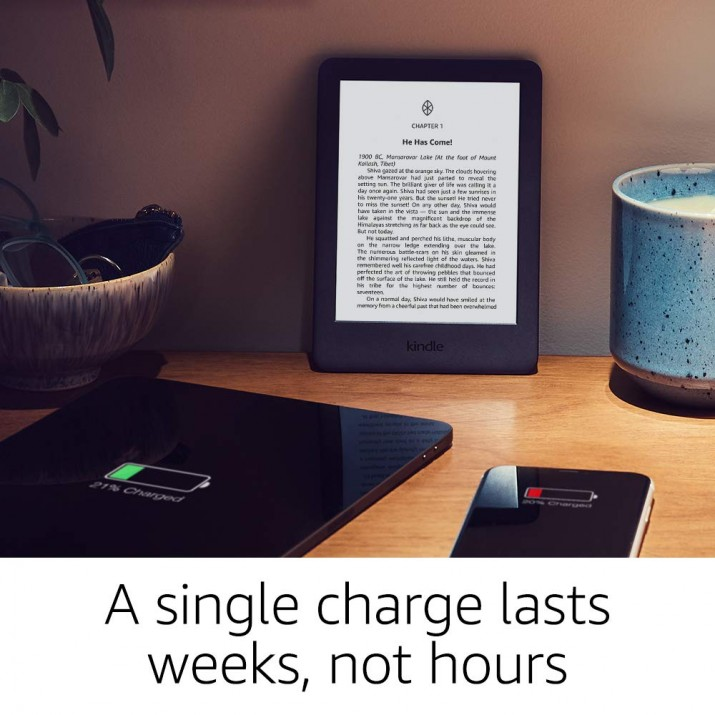 """All-New Kindle (10th Gen), 6"""" Display now with Built-in Light, Wi-Fi (Black)"""