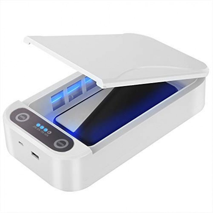 UV Phone Box Smartphone Sanitizer Jewellery Watch mask Sanitizer Kill Germs sterilizer with Function 99.9% UVC Disinfection Box