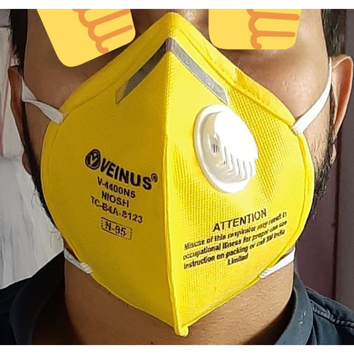 N95 Reusable Anti Pollution/Dust Face Mask With Respiratory Filter For Outdoor Protection