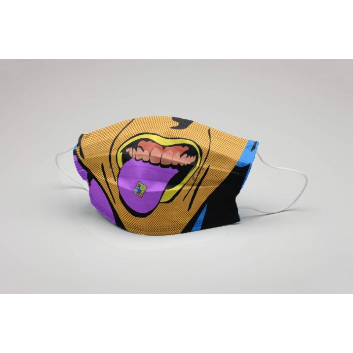 Printed 3-Ply Non-Woven Fabric Multicolor cartoon Face Masks