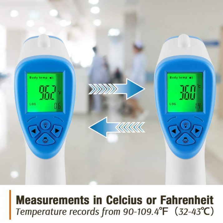 MediSec By Secureye Infrared Non Contact IR Thermometer for Fever Detection with FCC, PSE