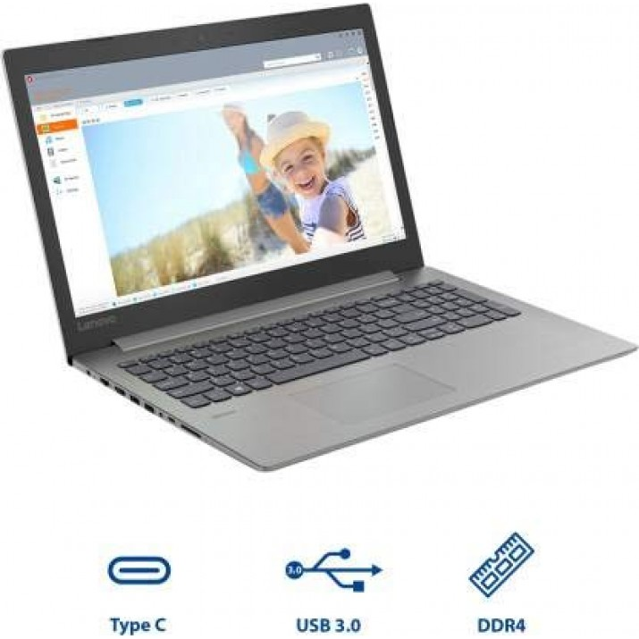 Lenovo Ideapad 330 Ryzen 3 2200U 15.6-inch FHD Laptop (4GB/1TB/Windows 10/Office 2019/ Platinum Gray /2.2Kg),81D200PVIN