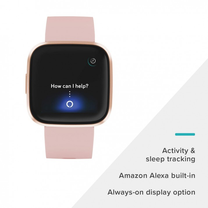 Fitbit Versa 2 Smartwatch (Petal/Copper Rose)