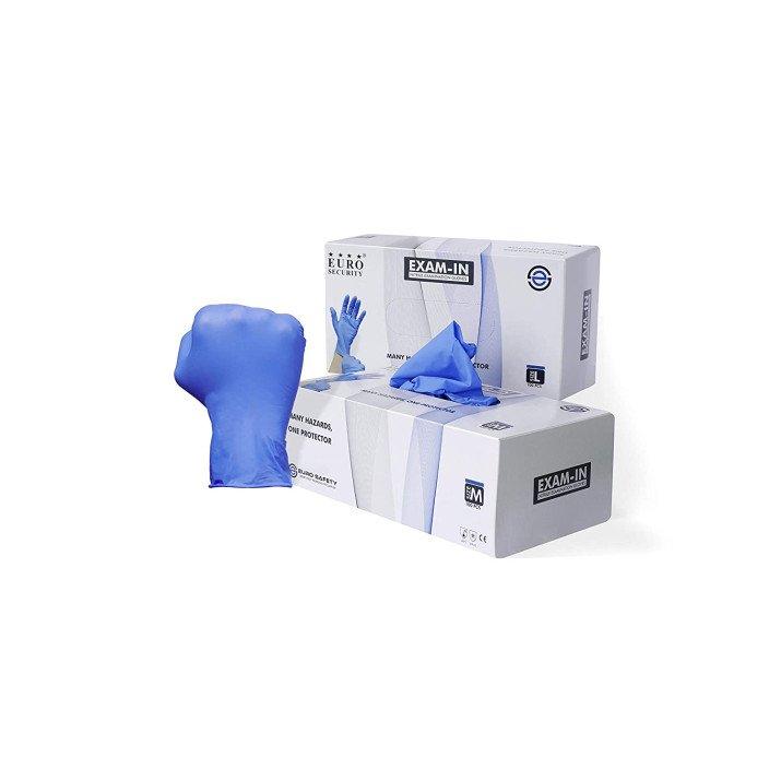 Nitrile Powder & latex free gloves, 5 mil (Medium) Pack of 70