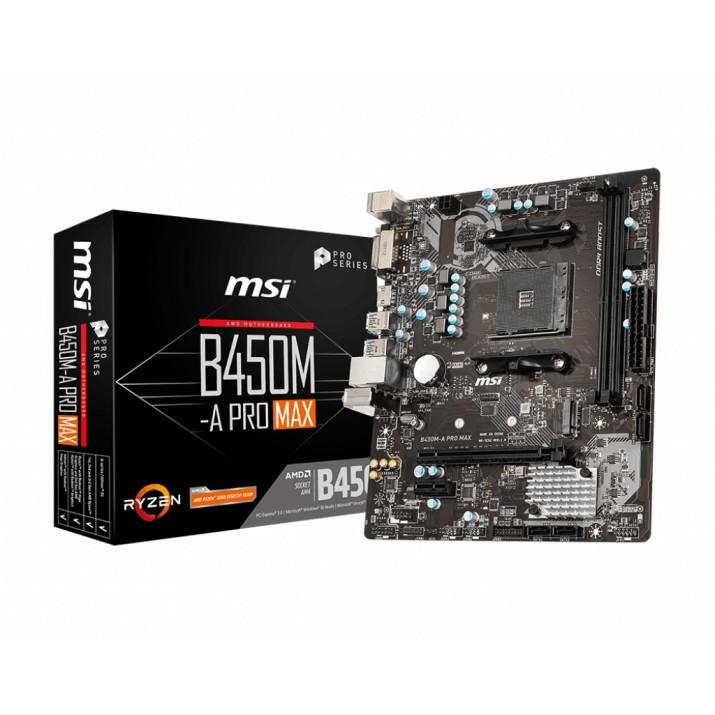 MSI B450M-A PRO MAX motherboard Socket AM4 Micro ATX AMD B450