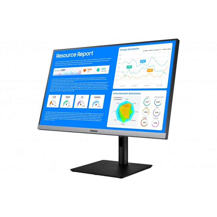 """Samsung LS24R650FDU LED display 60.5 cm (23.8"""") 1920 x 1080 pixels Full HD Black, Gray"""