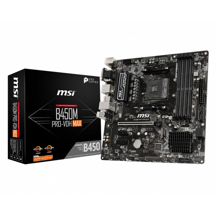 MSI B450M PRO-VDH Max Socket AM4 Micro ATX AMD B450