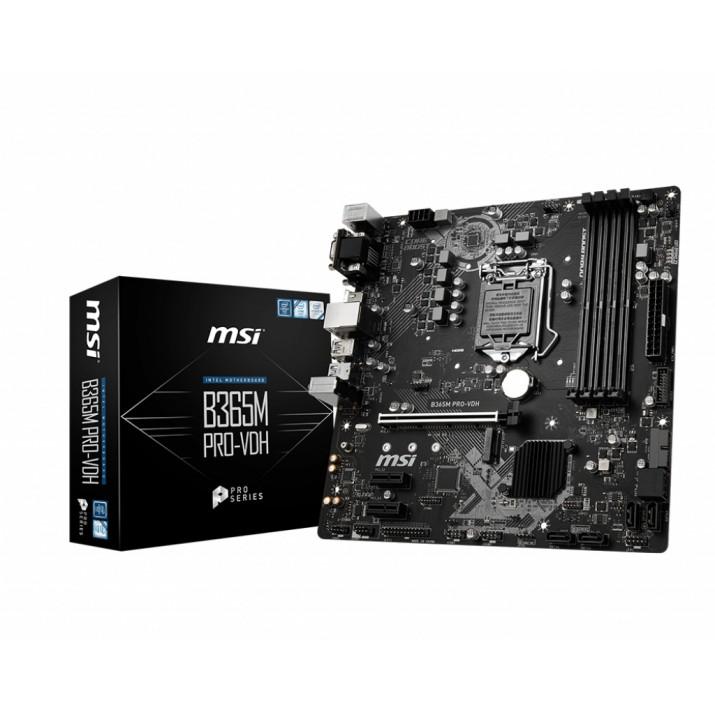 MSI B365M PRO-VDH LGA 1151 (Socket H4) Micro ATX Intel B365