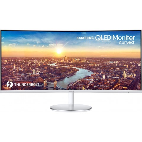 Samsung 34-inch (86.40cm) Curved Monitor 21:9 Ultrawide QLED- LC34J791WTWXXL