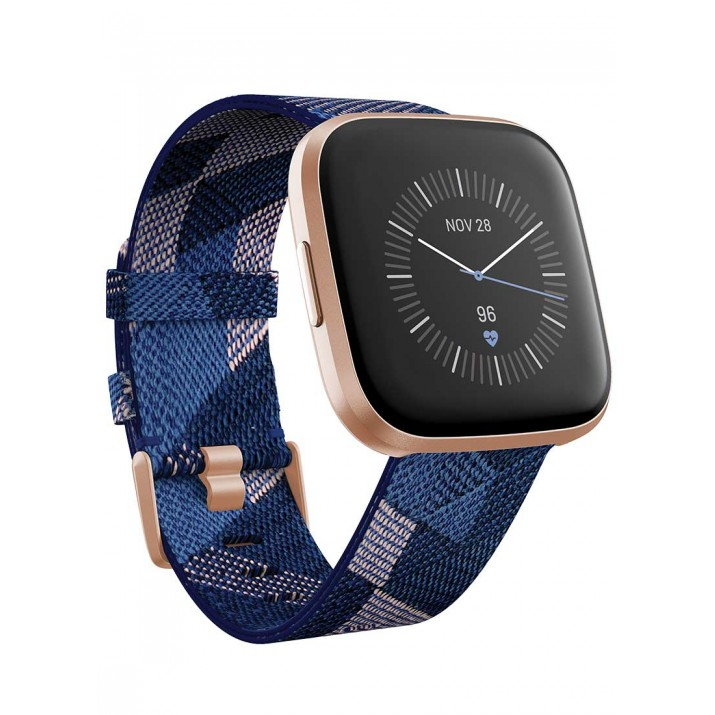 Fitbit Versa 2 Special Edition Smartwatch (Navy & Pink Woven)