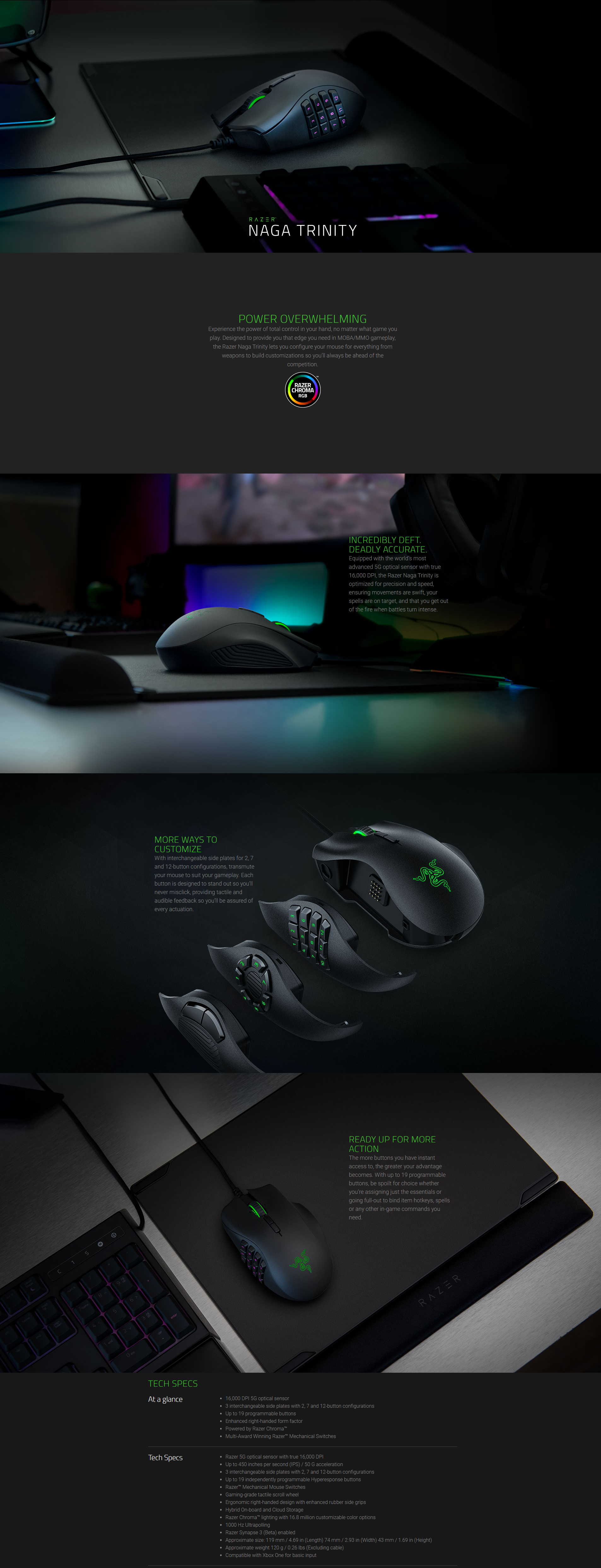Razer Naga Trinity-Multi-Color Wired Mouse