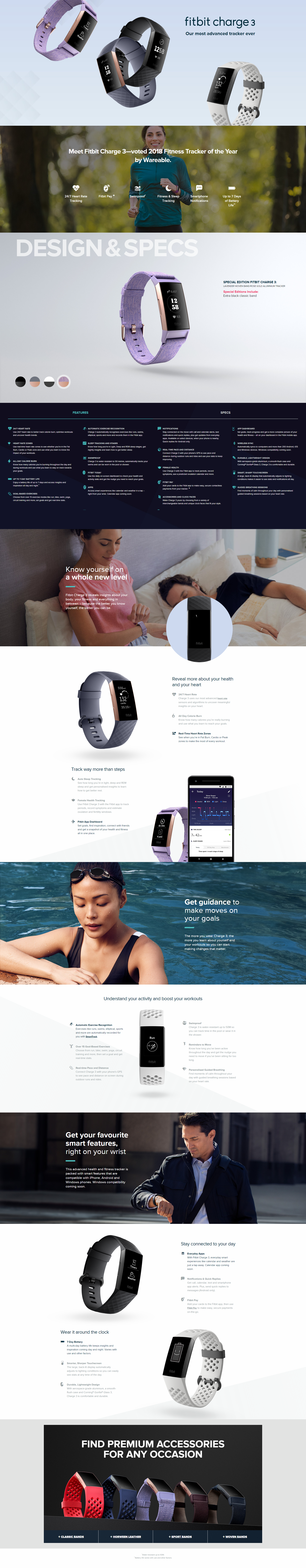 Fitbit Charge 3 Fitness Activity Tracker Special Edition