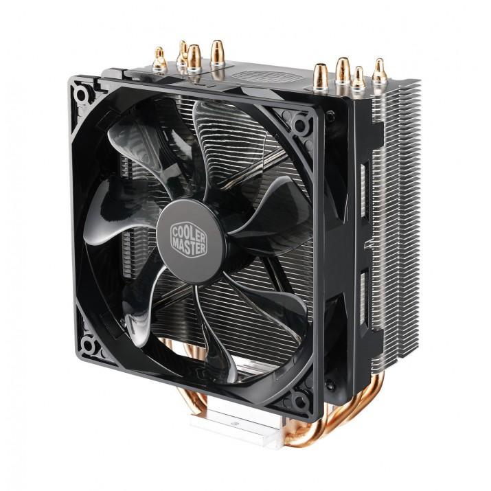 Cooler Master Hyper 212 LED Processor 12 cm Black,Metallic,Red