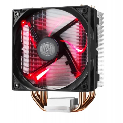 Cooler Master Hyper 212 LED Processor 12 cm Black,Metallic,Red