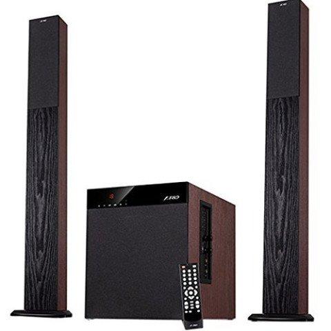 F&D T400X Full Wooden 2.1 Tower Speakers
