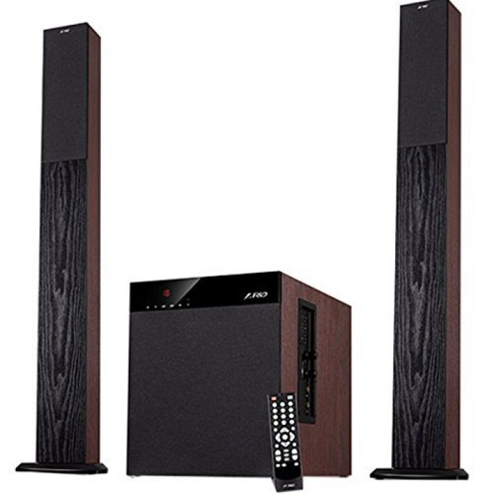 F&D T400X Full Wooden 2.1 Tower Speakers