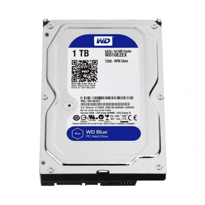 WESTERN DIGITAL BLUE 1TB 7200 RPM DESKTOP HARD DRIVE (WD10EZEX)