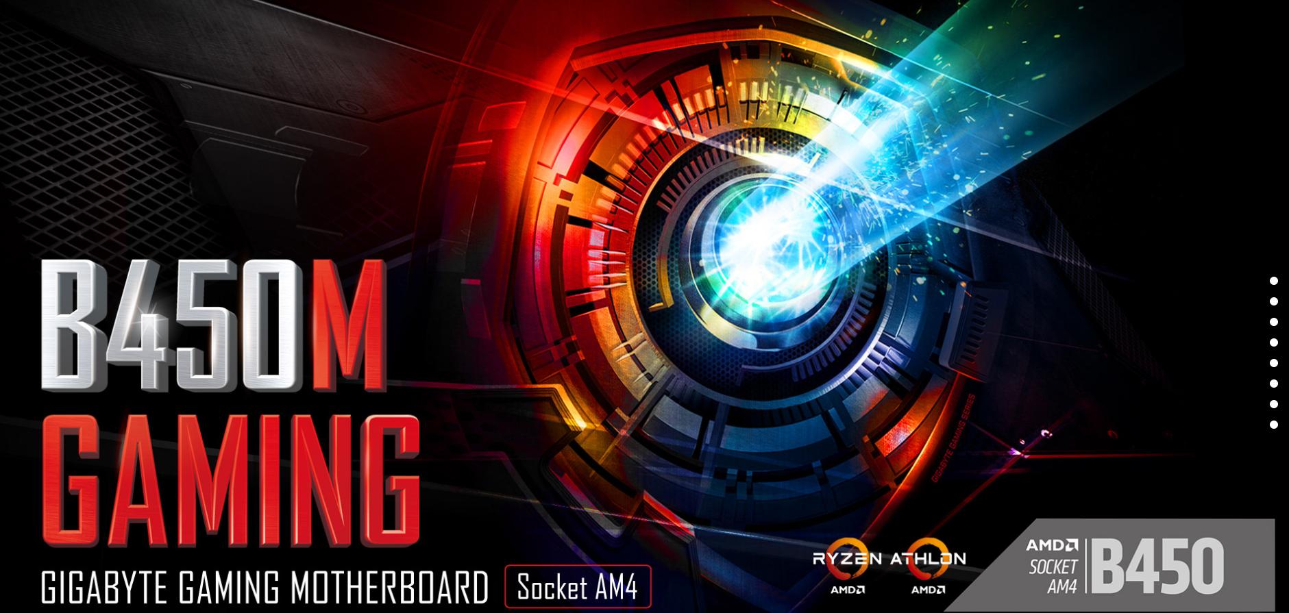 Gigabyte B450 M Gaming Motherboard