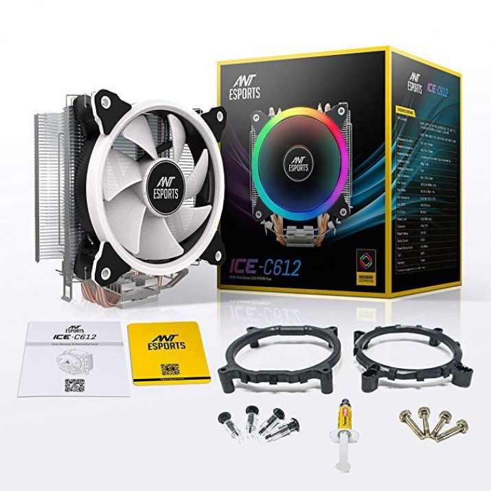 Ant Esports ICE-C612 With RGB LED PWM CPU Cooler/Fan