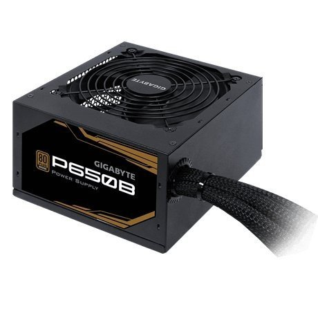 Gigabyte P650B power supply unit 650 W 20+4 pin ATX ATX Black