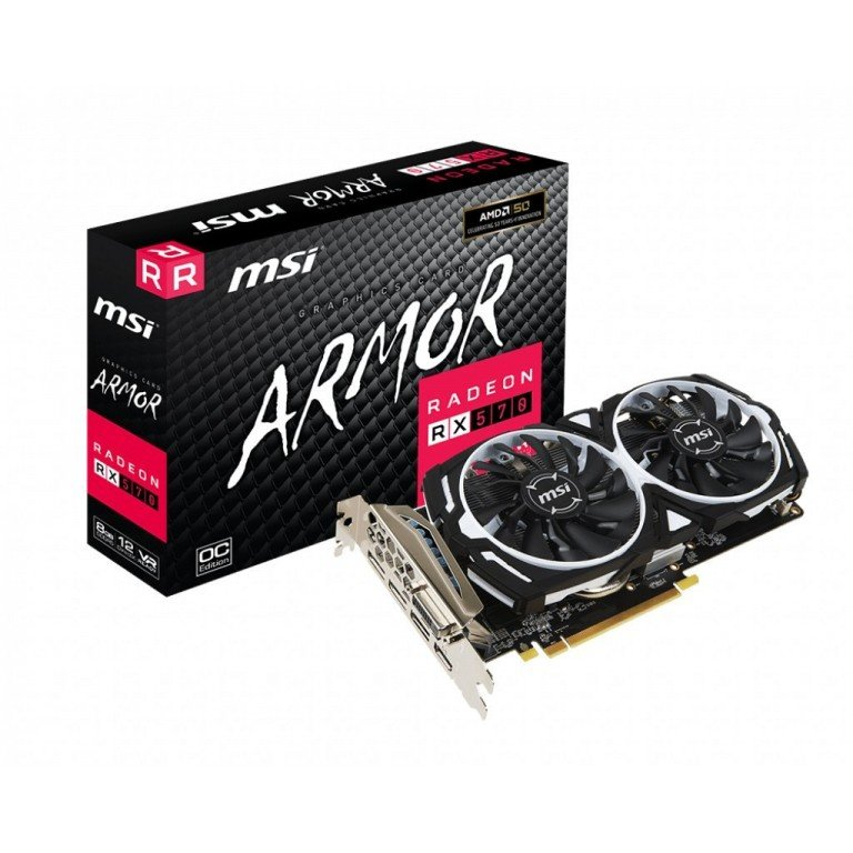 MSI RADEON RX570 ARMOR 8G OC Graphics Card