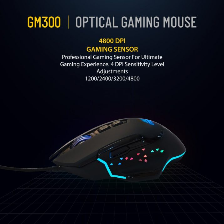 ANT ESPORTS GM300 RGB WIRED GAMING MOUSE