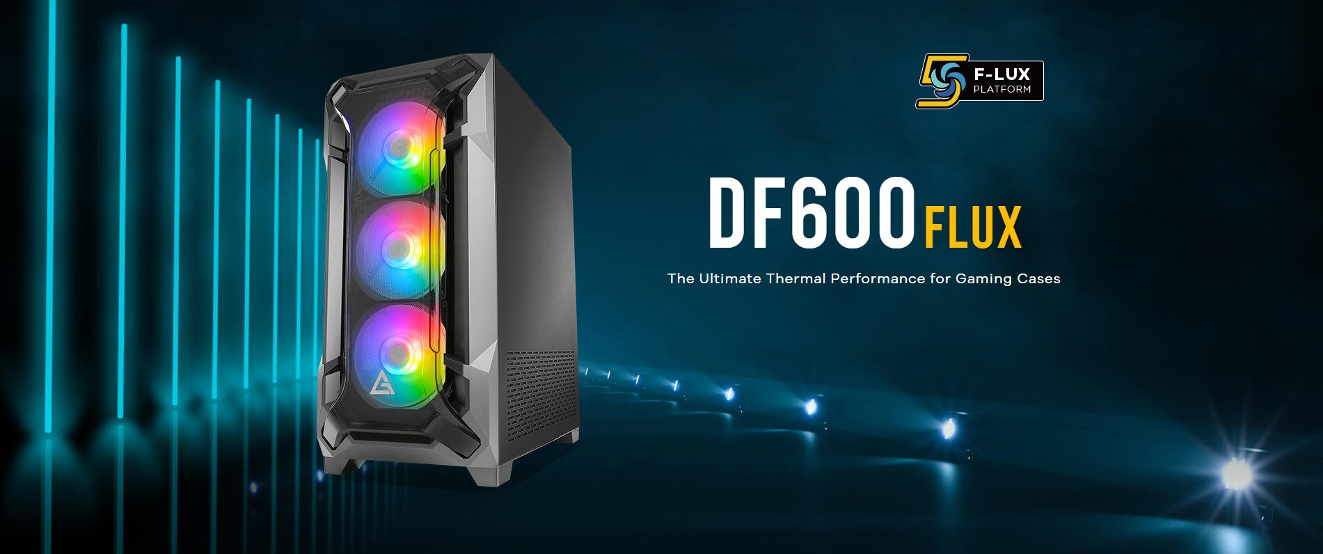 ANTEC DF600 FLUX ARGB (ATX) MID TOWER CABINET