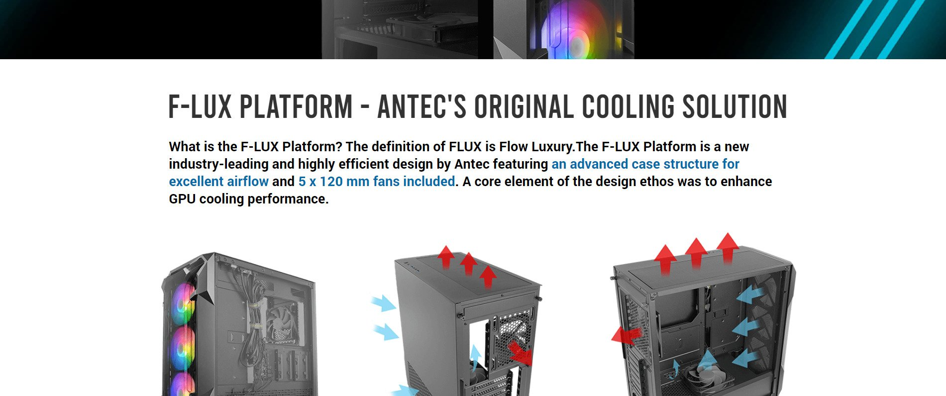ANTEC DF600 FLUX ARGB (ATX) MID TOWER CABINET