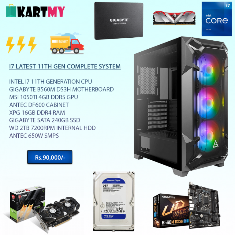 i7 11th Generation Mid-Budget All in One Desktop PC For Gaming & Editing