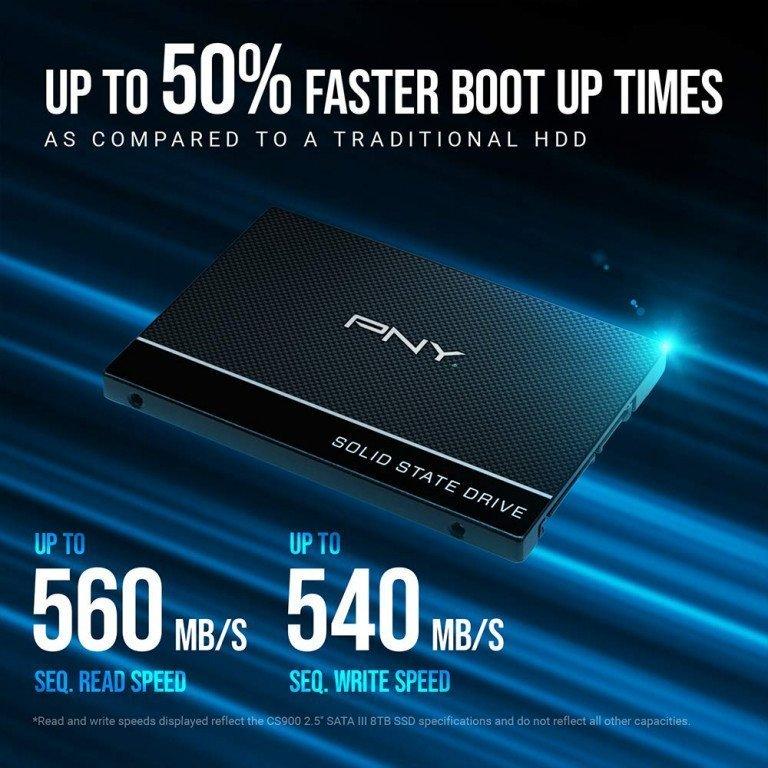 """PNY 480GB SSD 2.5"""" Sata III Internal Solid State Drive"""