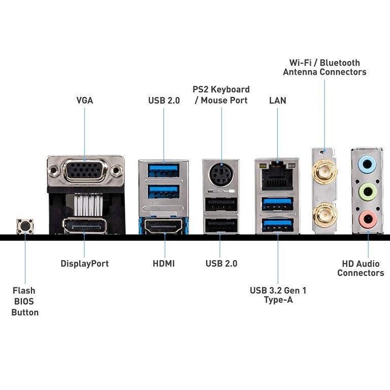 MSI B550M PRO-VDH WiFi DDR4, M.2, USB 3.2 Gen 1, Front Type-C, Wi-Fi, HDMI, Micro ATX Gaming Motherboard AMD Ryzen™ 5000 Series Desktop Processors