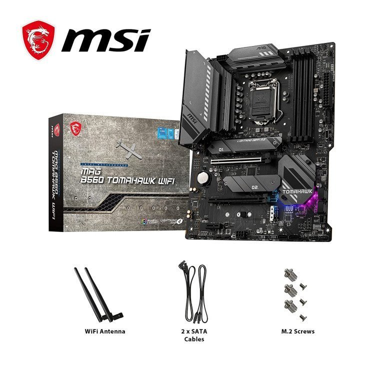 MSI MAG B560 Tomahawk WiFi ATX Gaming/Editing Motherboard
